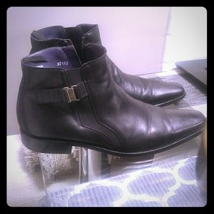 Men's shoes black leather Mezlan size 9 M